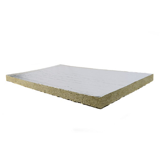 Rockwool fire barrier foil faced one side 50mm 1000mm x for Rockwool insulation board