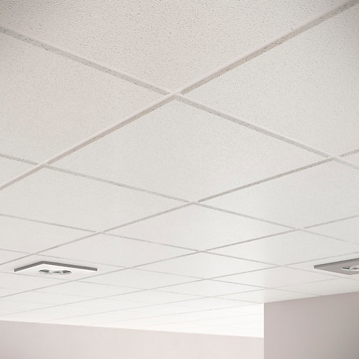 Sektor Sahara Plain Square Edge Ceiling Tile 14mm Edge X