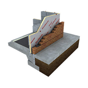 Xtratherm PIR Cavity Wall Insulation Board Square Edge 50mm 1200mm x 450mm