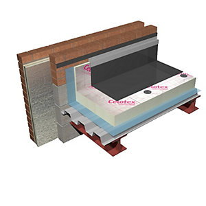 Celotex Insulation Crown Fix Flat Roof Board FX0000 2400mm x 1200mm 50mm - 140mm