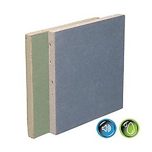 British Gypsum Gyproc Sounbloc Moisture Resistant 15mm Tapered Edge Plasterboard 2400mm x 1200mm