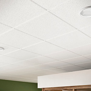 Sektor Sahara 14mm Square Edge Perforated Ceiling Tile 1200mm x 600mm